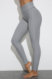 Push Up Workout Leggings in Gray | Allure Apparel Co