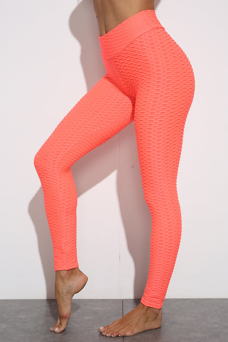 Push Up Workout Leggings in Orange | Allure Apparel Co