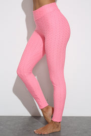 Push Up Workout Leggings in Pink | Allure Apparel Co