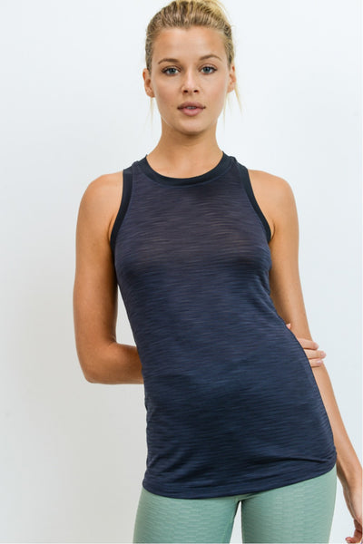 Ringer Active Racerback Tank Top in Black | Allure Apparel Co