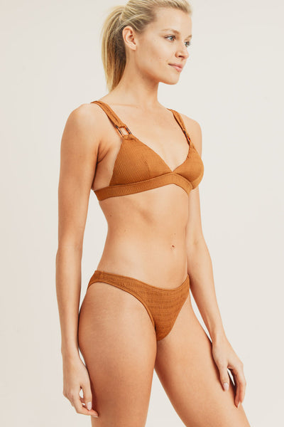 Ruched Bikini Set in Caramel | Allure Apparel Co