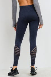 Seamless Blossom High Waisted Leggings in Black | Allure Apparel Co