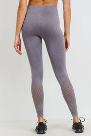 Seamless Blossom High Waisted Leggings in Mauve | Allure Apparel Co