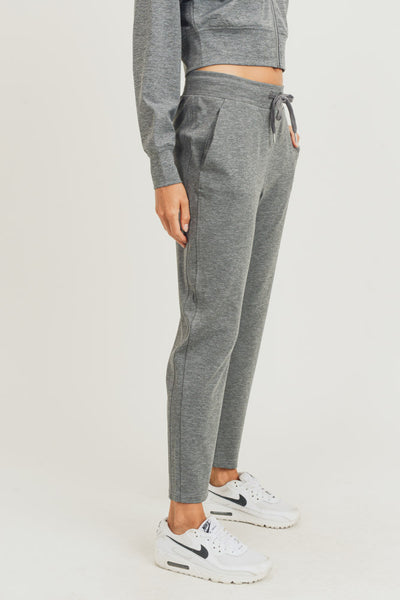 Side-Paneled Joggers in Heather Grey | Allure Apparel Co