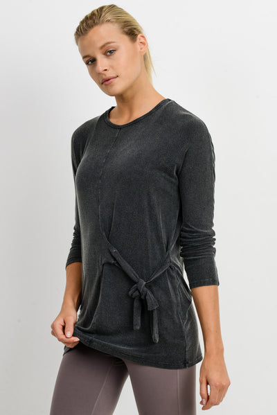 Side-Tie Mineral Wash Resort Top | Allure Apparel Co