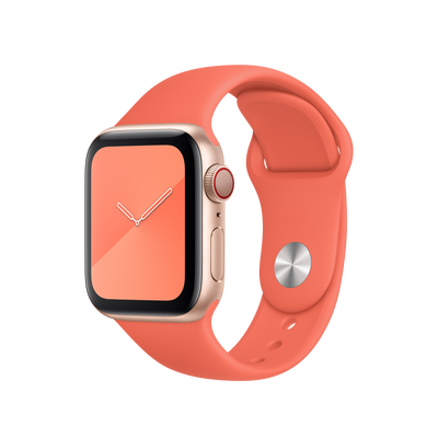 Silicone Sport Band for Apple Watch in Clementine | Allure Apparel Co
