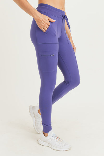 Skinny Cargo Hybrid Full Leggings in Indigo | Allure Apparel Co