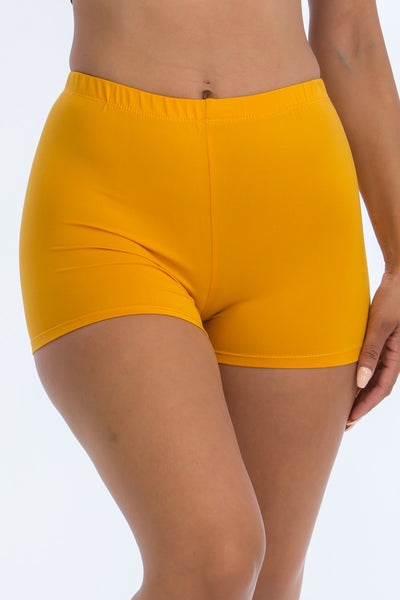 Solid Essential Short Shorts in Gold | Allure Apparel Co
