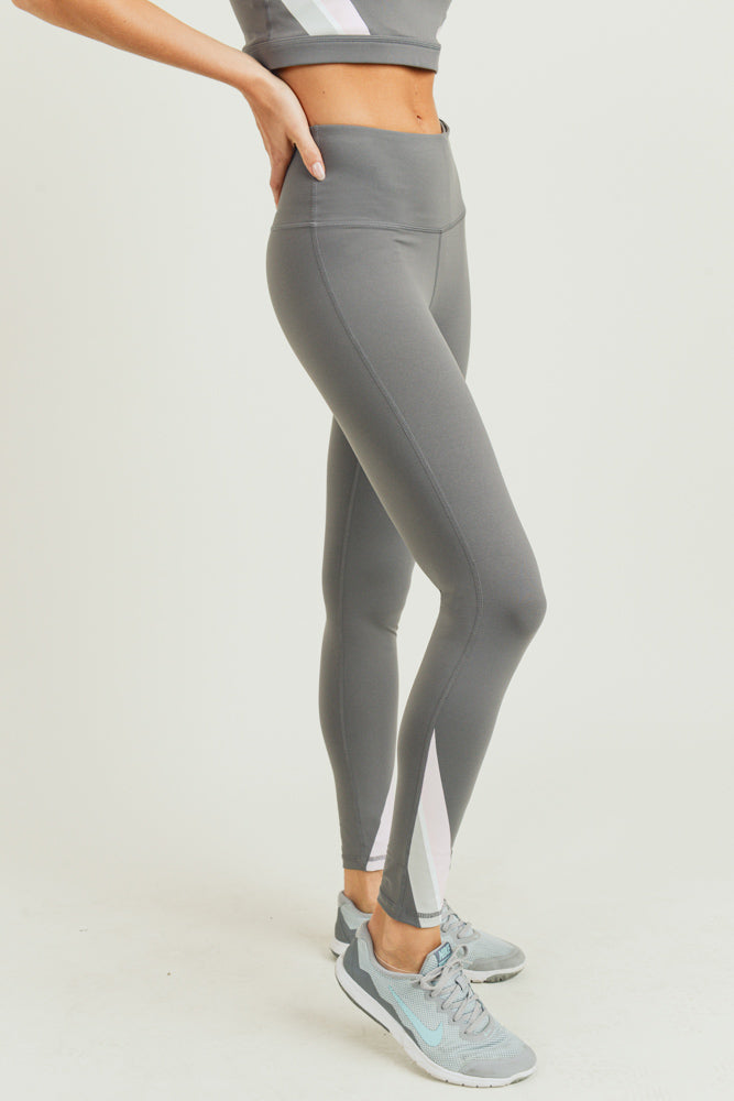 Solid Pastel Stripe High Waisted Leggings | Allure Apparel Co