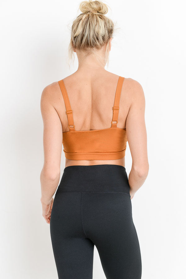 Strapped Overlapping Sports Bra | Allure Apparel Co