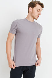 Supima Blend Garment-Dyed Crewneck Tee in Mauve | Allure Apparel Co