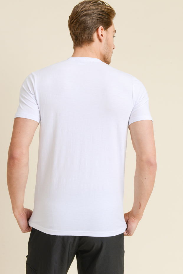 Supima Blend Garment-Dyed Crewneck Tee in White | Allure Apparel Co