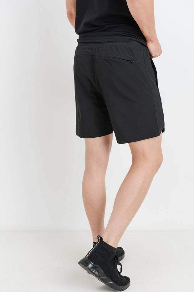 Wave Accent Essential Active Shorts in Black | Allure Apparel Co