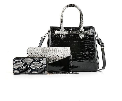Zeezee Croc Patent 3-in-1 Bag