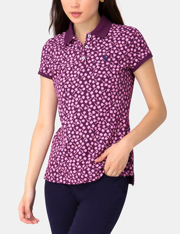 US Polo Association Ladies Floral Polo Top - Size 14