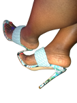 Blue Weave Clear Sandals