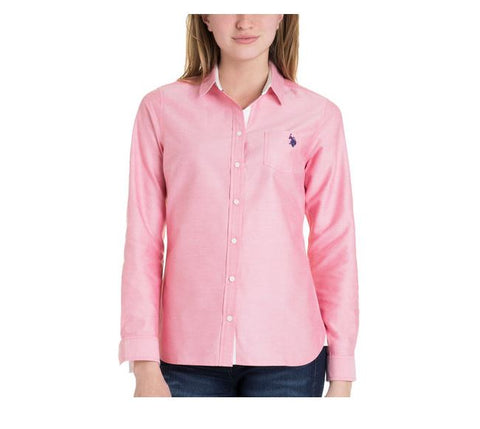 US Polo Association Ladies Pink Shirt