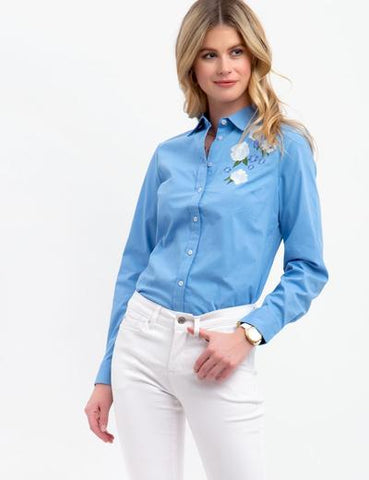 US Polo Association Ladies Blue Shirt