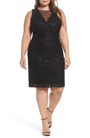 Morgan & Company - Lace & Sequin Cocktail Dress - Size 18