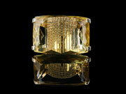Extra-Large Cocktail Statement Ring with Yellow Light Citrine