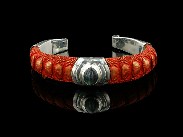 COMING SOON: Artemis Bracelet, Orange with Labradorite
