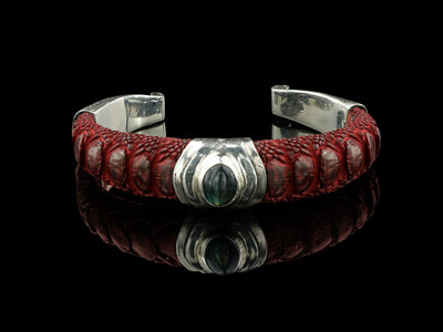 COMING SOON: Artemis Bracelet, Red with Labradorite