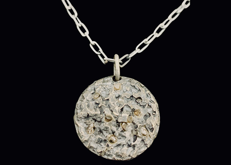 Raw Diamond Element Pendant with Necklace,  Earth