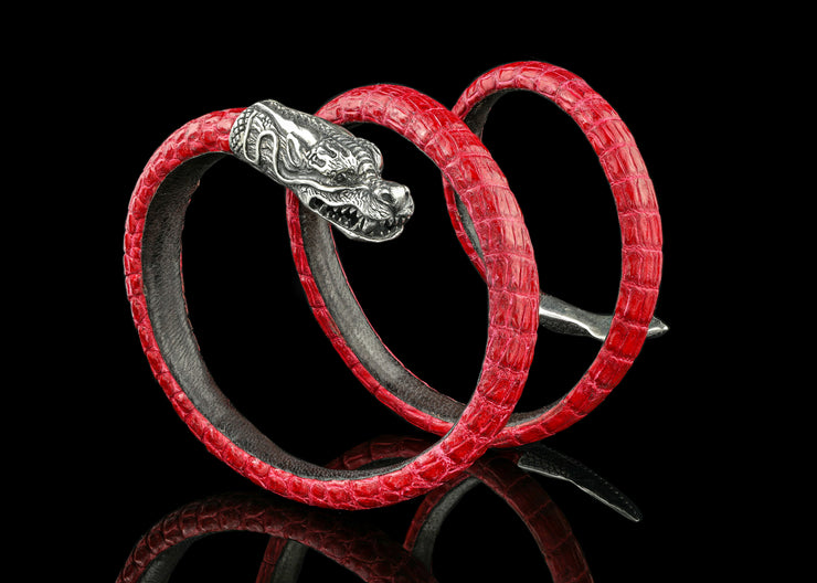 Fast and Furious Dragon, Textured Red with Black Diamonds