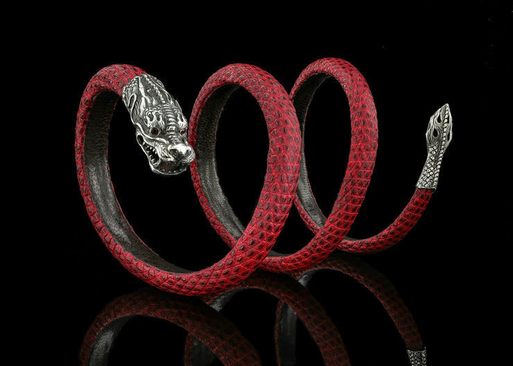 Fast and Furious Dragon, Textured Red with Rubies