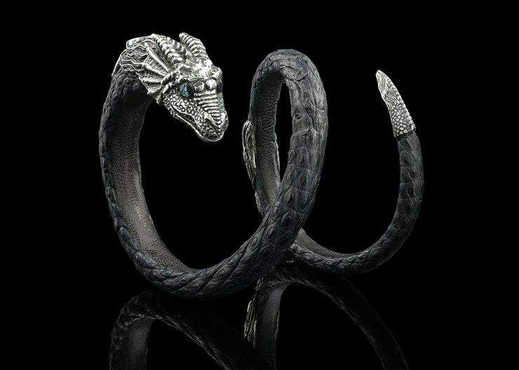 Silver Majestic Dragon, Abalone Shell