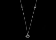 Alpha Rotating Necklace with Onyx Pendant