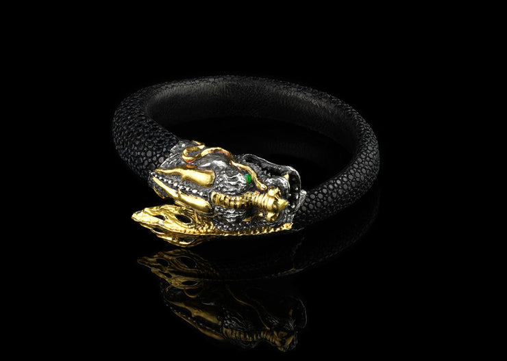 Treasure Dragon in Gold with Emeralds
