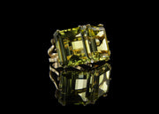 Two-Stone Statement Ring with Green-Gold Quartz