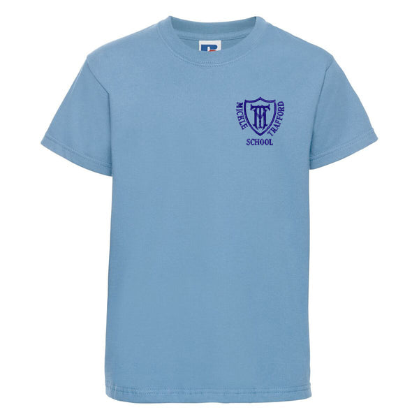Embroidered T-Shirt - Sky Blue - Your School Uniform Shop