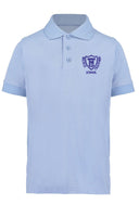 Embroidered Polo Shirt - Sky Blue - Your School Uniform Shop