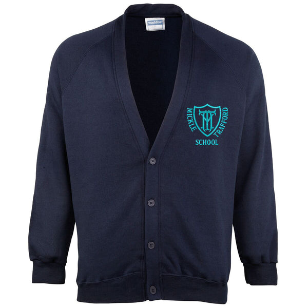 Embroidered Cardigan - Navy - Your School Uniform Shop