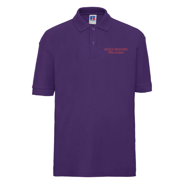 Embroidered Polo Shirt - Purple - Mickle Trafford Pre School