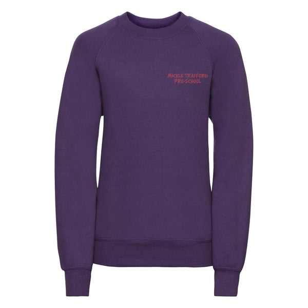 Embroidered Sweatshirt - Purple - Mickle Trafford Pre School