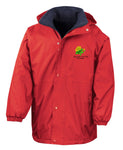 Embroidered Water Resistant/Windproof Coat - Red/Navy - Your School Uniform Shop