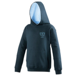 Embroidered Hoodie - Navy/Sky - Mickle Trafford