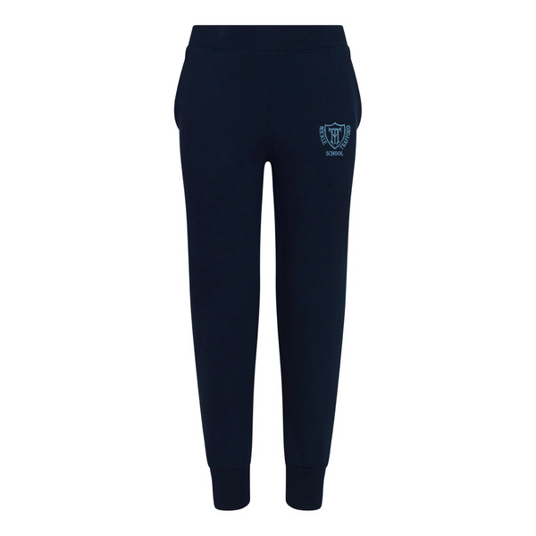Embroidered Joggers - Navy - Mickle Trafford