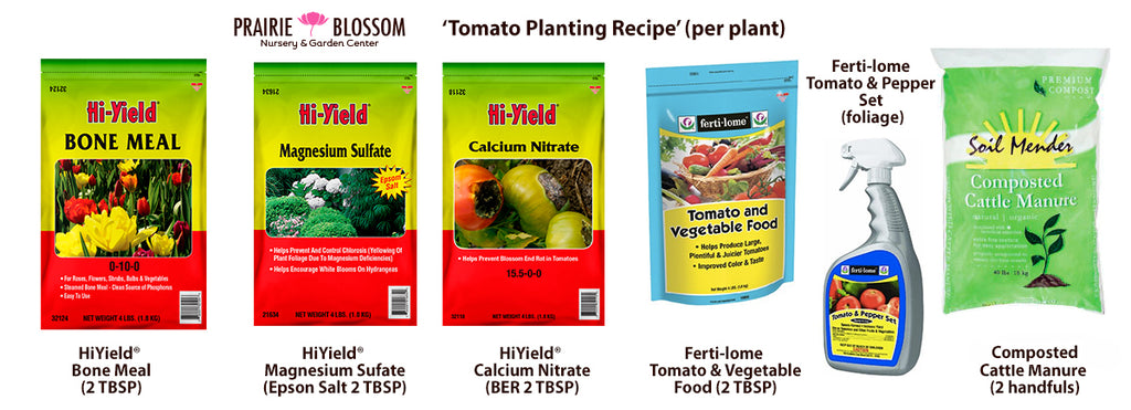 PBN's Recipe for Planting Tomato Plants (per plant)
