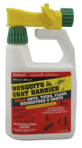 Summit Chemical Mosquito & Gnat Barrier - Qt hose end spray bottle