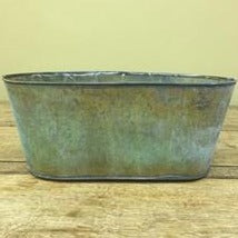 "Vast America Metal Patina Oval 10""x5"" CM-44"