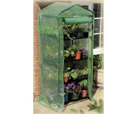 World Source_Gardman_ 7610_ 4-Tier Mini Greenhouse w/ cover