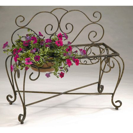 Deer Park Bronze 2-pot Bench Plant Stand