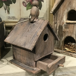PHC Rustic Birdhouse with Drawer
