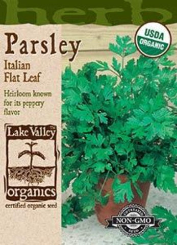 Organic Parsley Italian Flat Leaf