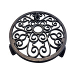 Wagner Round Cast Iron Plant Caddy, 11.4""
