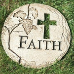 Roman 12 inch Faith Garden Stone, Cross